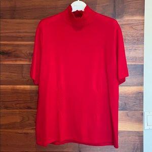 Escada Christmas red turtleneck sweater